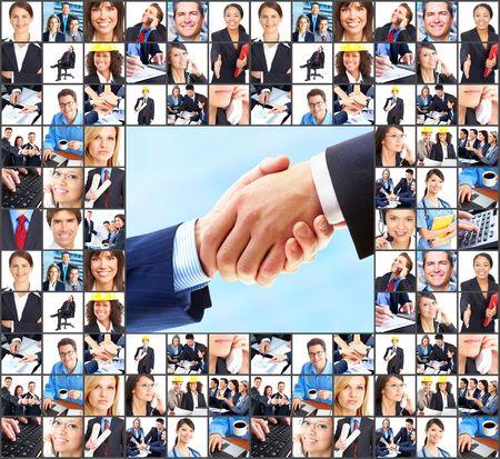 Business  people.  Businessmen and business women Stock Photo - 7088144