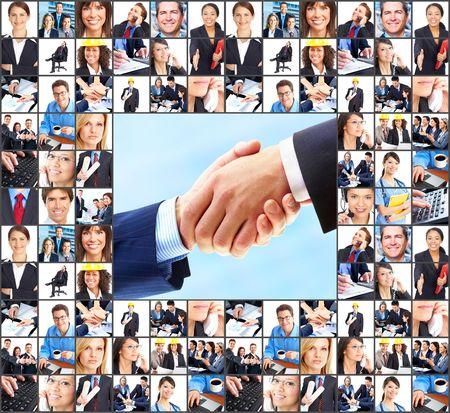 businessmen handshake: Business  people.  Businessmen and business women