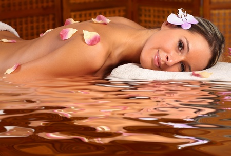 Beautiful young woman getting spa massage. Relax Stock Photo - 9056394