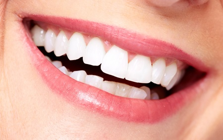 Beautiful woman smile  Dental care background  Stock Photo - 20311900