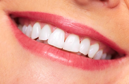 Beautiful woman smile. Dental care background. Stock Photo - 20311910