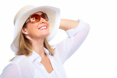 Senior Woman wearing sunglasses and a hat. Summer vacation. Stock Photo - 20311898