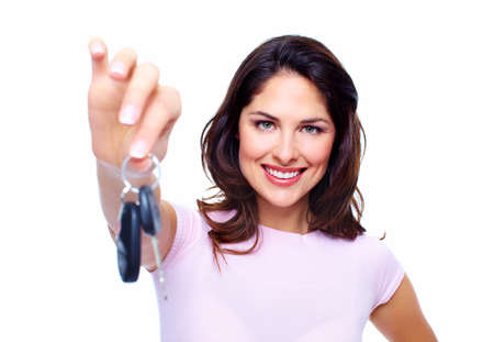 Woman with a car keys  photo