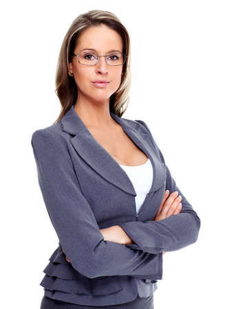 Business woman with eyeglasses  Stock Photo