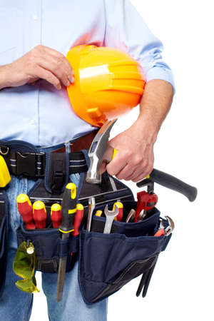 Worker with a tool belt  photo