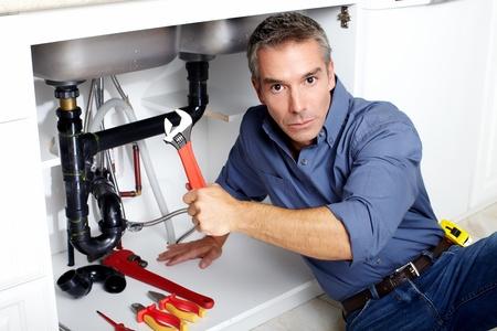 janitor: Plumber  Stock Photo