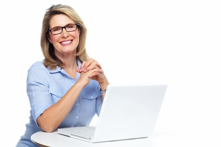 laptop: Business woman with laptop