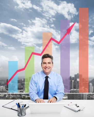 Businessman in the office  Stock Photo - 21411265