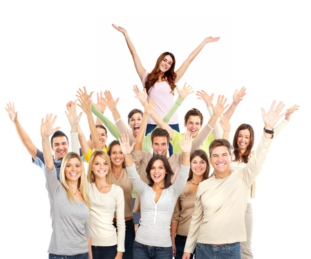 inviting: Happy people