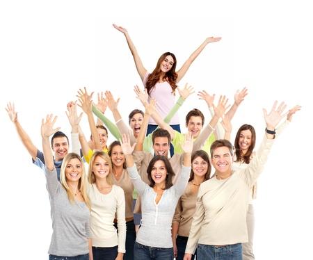 invitando: La gente feliz