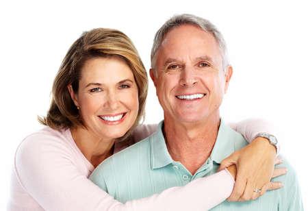 denti: Feliz pareja senior en el amor