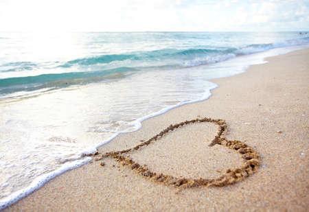 destination wedding: Beautiful tropical beach. Caribbean vacation resort. Stock Photo