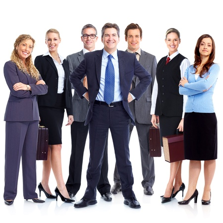 Group of business people. Business team. Isolated over white background. Stock Photo - 22059981