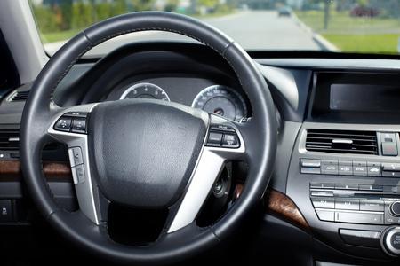 Car interior. Auto background. photo