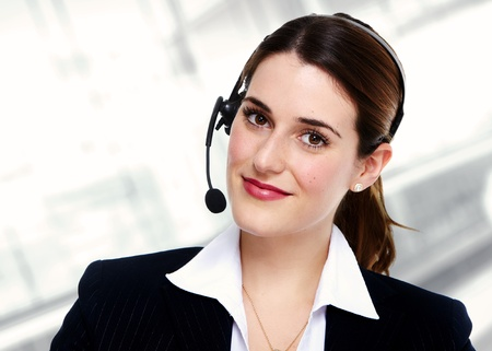 Business woman with headsets  photo