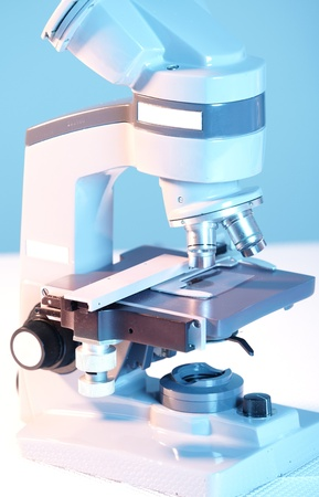 Laboratory Microscope. Scientific and healthcare research background. Stock Photo - 21685238