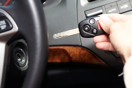 Car keys. Auto dealership concept. photo