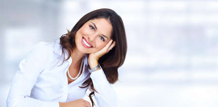 Business woman. Accounting and financial service background.