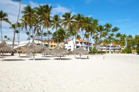 Punta Cana beach. Tropical resort.