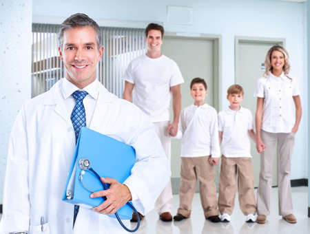 family physician: Family doctor  Health care  Stock Photo