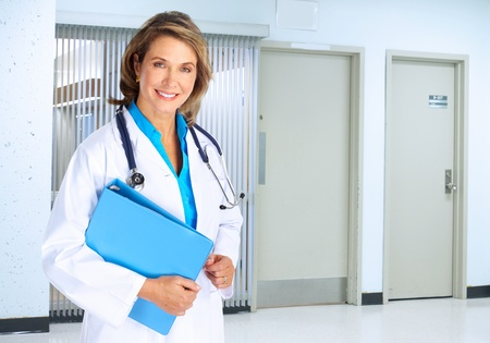 smiling doctor woman: Doctor woman