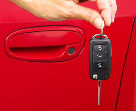 Car keys. Auto dealership concept. photo
