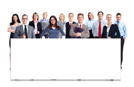 Group of business people. Isolated over white background. photo