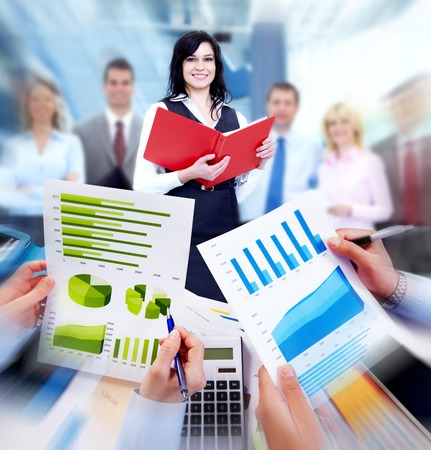Business people working with graphs  Financial concept  photo