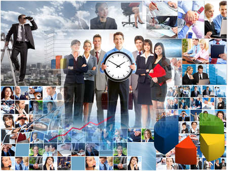 Business people collage. Teamwork concept background. Success. Stock Photo - 22722399