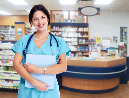 Smiling medical doctor woman  photo