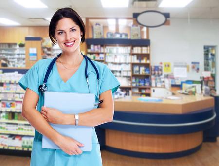 medico: Smiling medical doctor woman