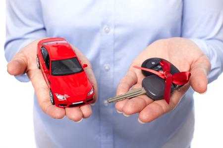 car loan: Car keys. Auto dealership and rental concept background. Stock Photo