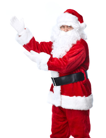 santa: Santa Claus isolated on white background. Christmas holiday party. Stock Photo