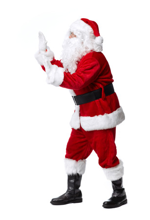 Santa Claus isolated on white background. Christmas holiday party. Stock Photo
