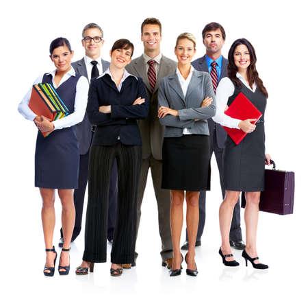 dolgozó: Az üzletemberek csoportja isilated mint a fehér backgorund