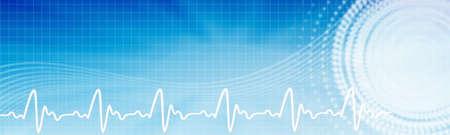 醫療保健: 醫療保健背景。醫療保健藍色旗幟COPYSPACE。