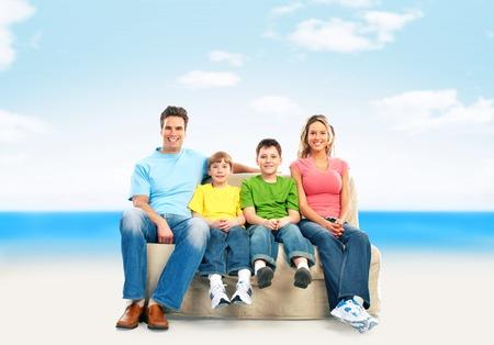 Family on the beach Stock Photo - 24137417