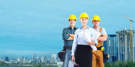 Group of construction workers  photo