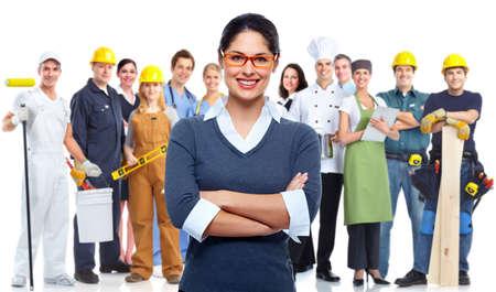 arbeiter: Geschäftsleute Gruppe isoliert Teamarbeit konzeptionellen Hintergrund Lizenzfreie Bilder