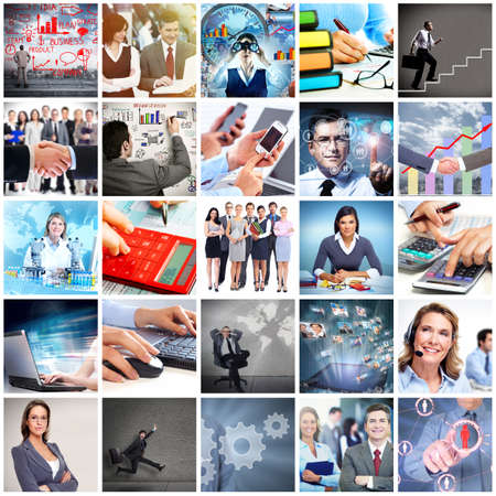 the bookkeeper: Business team collage