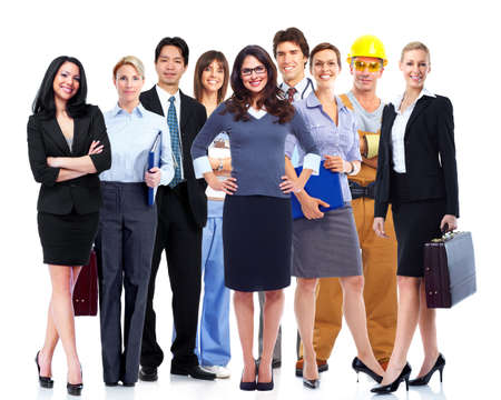 community service: Business people group  Stock Photo