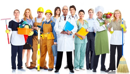 community people: Group of business people isolated over white background