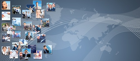 Business people banner collage background design  Success Stock Photo - 24099230