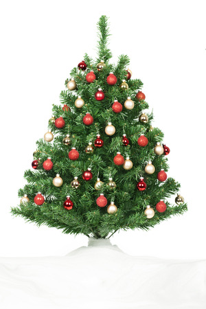 Christmas tree and gifts isolated over white background. Stock Photo - 24192007
