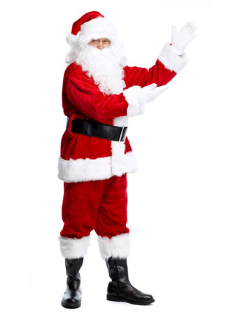 Santa Claus isolated on white background  Christmas holiday party