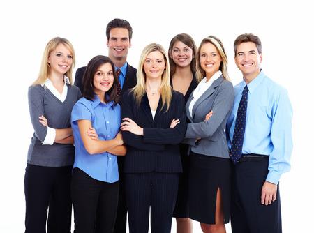 servicios publicos: Grupo de hombres de negocios aislados sobre fondo blanco Foto de archivo