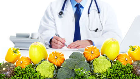 nutritionist: Nutritionist doctor man Stock Photo