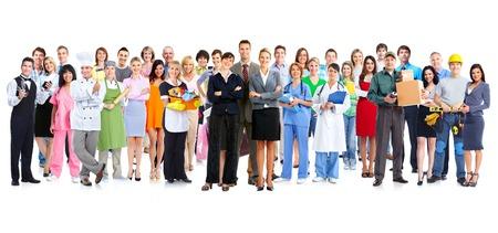 Grupo de personas trabajadoras Foto de archivo
