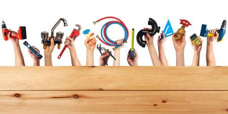 Set of construction tools  photo