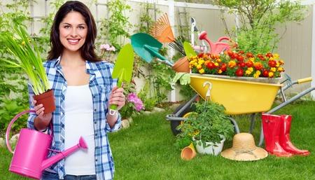 Gardening woman photo